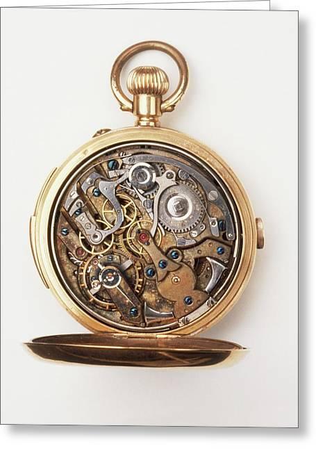 Gold Pocket Watch Greeting Card by Dorling Kindersley/uig