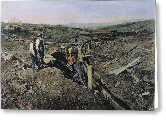 Gold Prospectors, C1897 Greeting Card