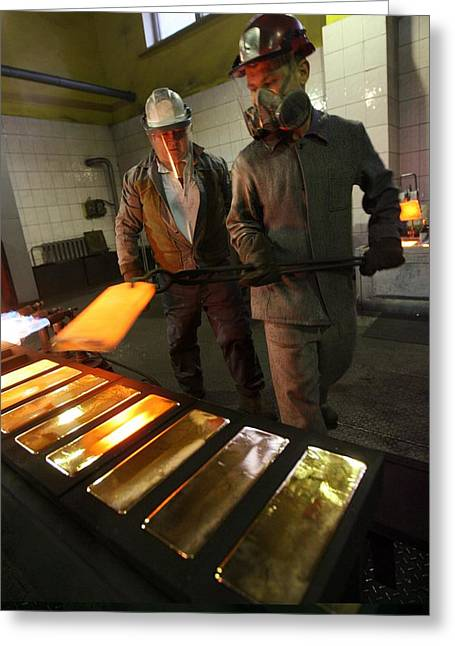 Gold Refinery Greeting Card