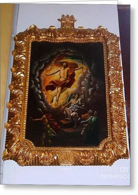 Gold Remains Greeting Card by Vladimir Berrio Lemm