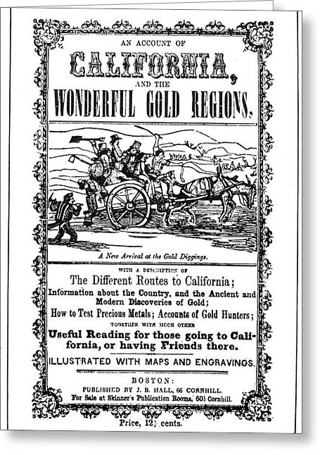 Gold Rush Guidebook, 1849 Greeting Card by Granger