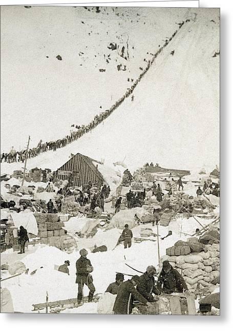 Gold Rush The Klondike Greeting Card