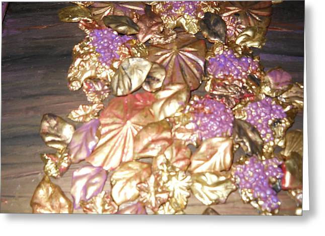 Gold Seashell Relief Greeting Card by Suzanne Thomas