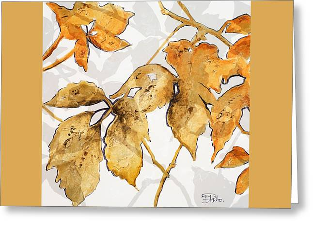 Gold Shadows II Greeting Card by Patricia Pinto