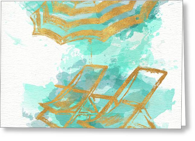 Gold Shore Poster Greeting Card