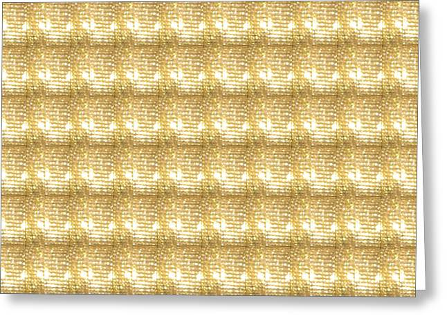 Gold Sparkle Tone Pattern Unique Graphics Greeting Card by Navin Joshi