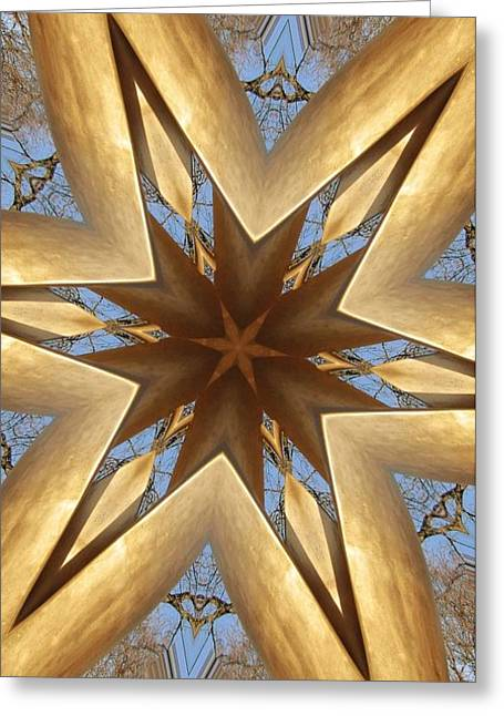 Gold Star Salute Collide-a-scope Greeting Card by Sue  Thomson