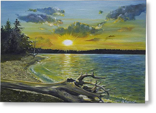 Golden Afternoon At Ketron Island Greeting Card