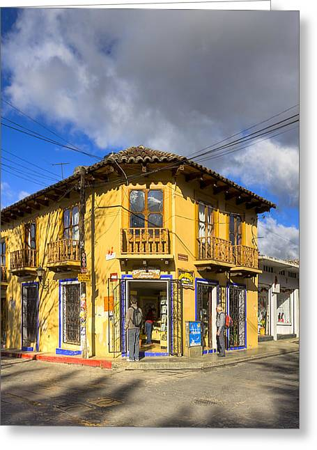 Golden Afternoon In San Cristobal De Las Casas Greeting Card by Mark Tisdale