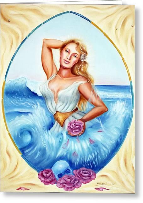 Golden Aphrodite Greeting Card by Karin  Leonard