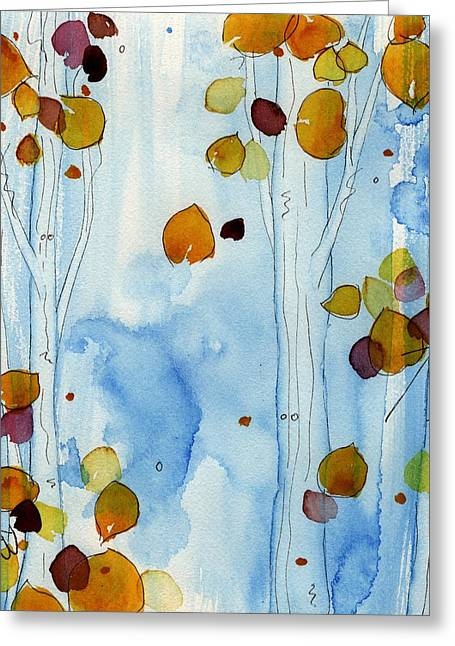Golden Aspens Greeting Card by Dawn Derman