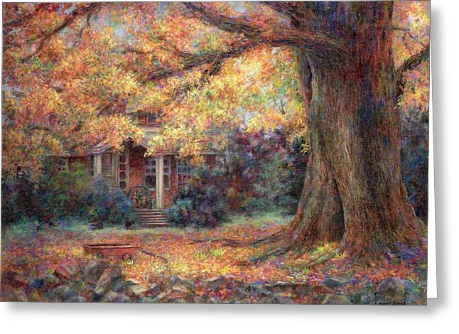Golden Autumn Greeting Card by Susan Savad
