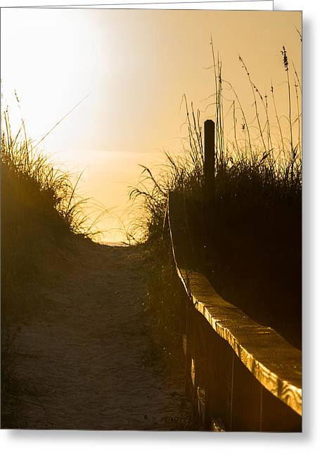 Golden Beach Access Greeting Card