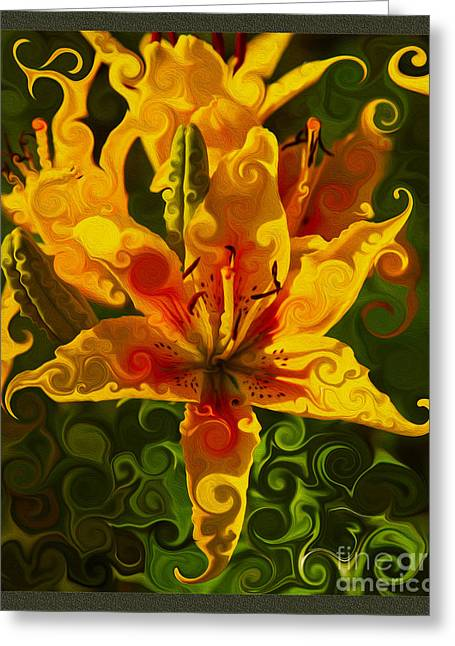 Golden Beauties Greeting Card by Omaste Witkowski