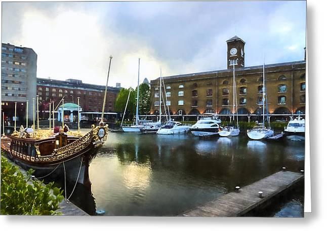 Golden Boat - Gloriana The British Royal Barge Greeting Card