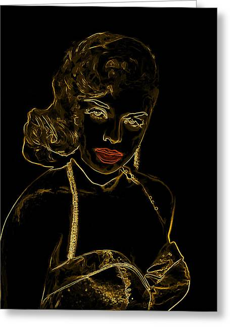 Golden Bombshell Man Ray Homage Greeting Card by Brian King