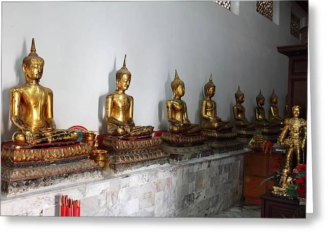 Golden Buddha - Wat Pho - Bangkok Thailand - 01133 Greeting Card