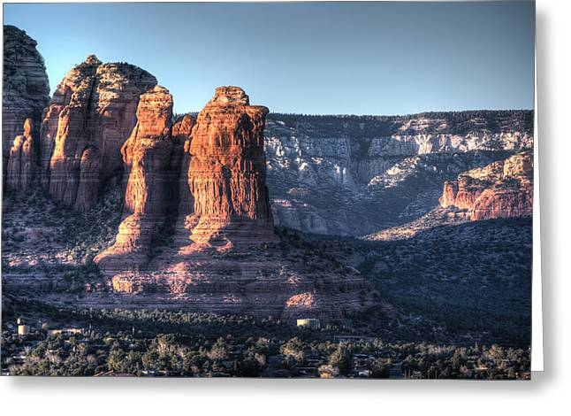 Greeting Card featuring the photograph Golden Buttes by Lynn Geoffroy