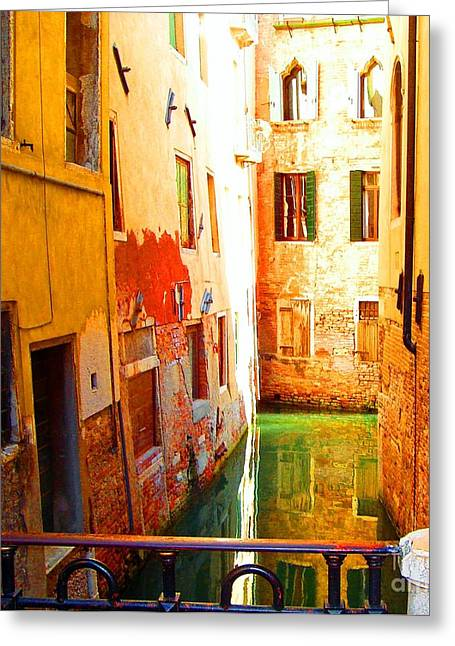 Golden Canal Greeting Card
