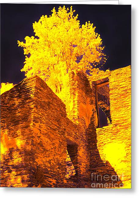 Golden Chapel Greeting Card by Paul W Faust -  Impressions of Light