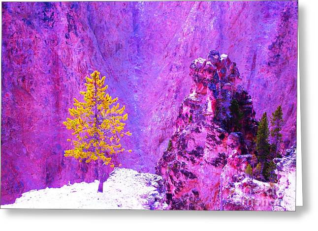 Golden Christmas In Yellowstone Greeting Card