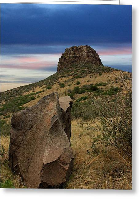 Golden Colorado Sunset  Greeting Card by AR Annahita