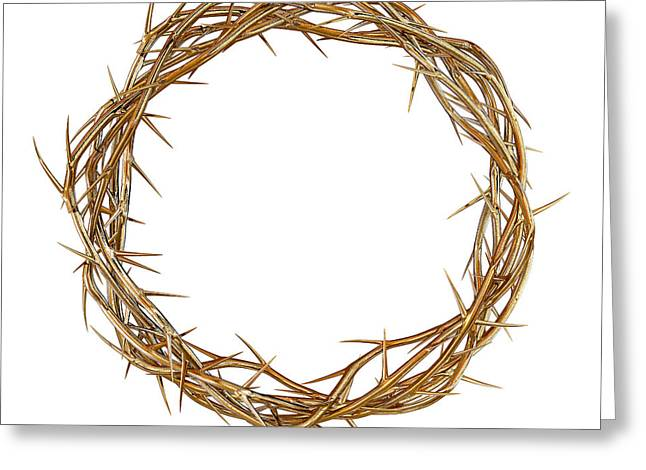 Golden Crown Of Thorns Greeting Card