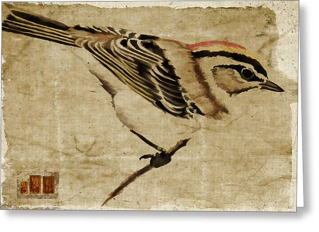 Golden-crowned Kinglet Greeting Card