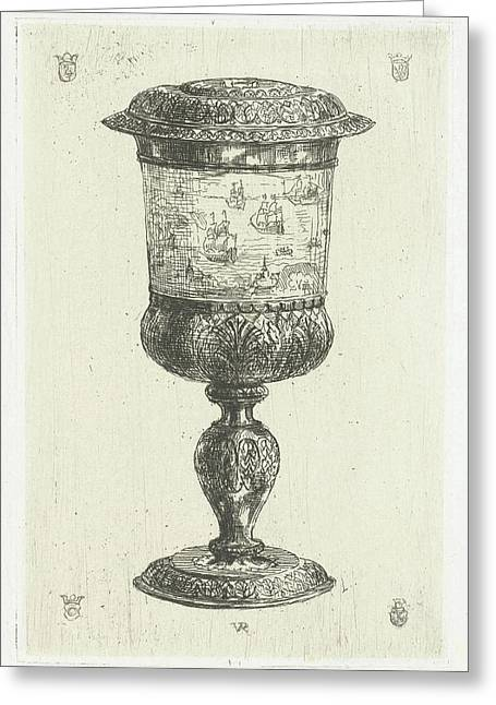 Golden Cup With Lid, Donated To Michiel De Ruyter Greeting Card by Litz Collection
