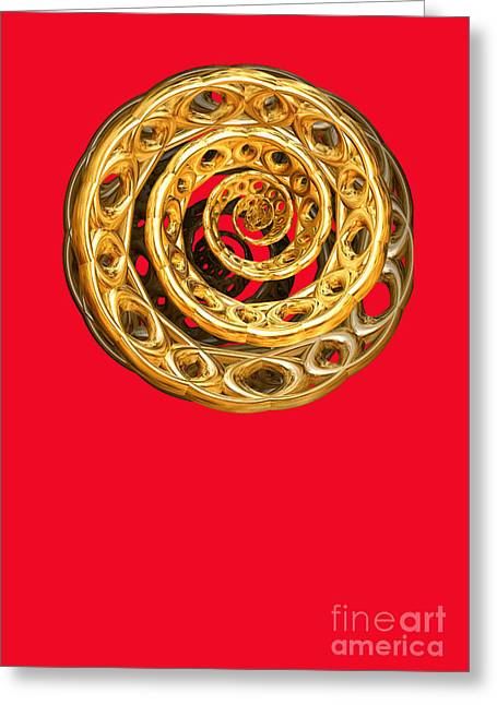 Golden Cycle Of Life By Jammer Greeting Card
