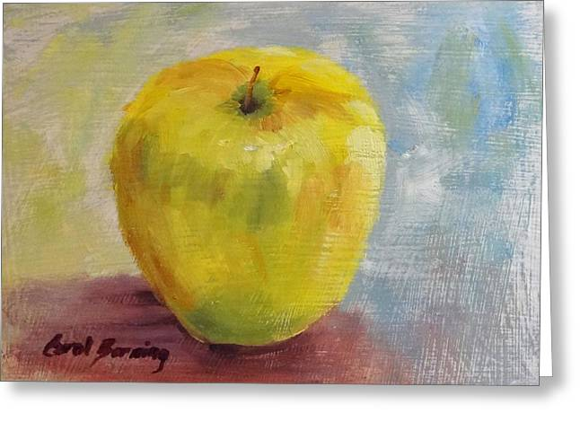 Golden Delicious Greeting Card by Carol Berning