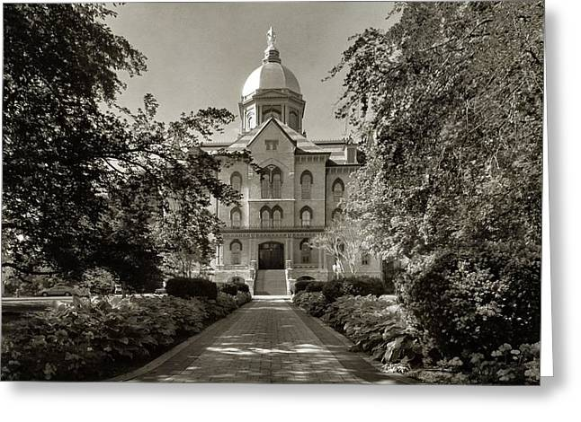 Golden Dome At Notre Dame University Greeting Card