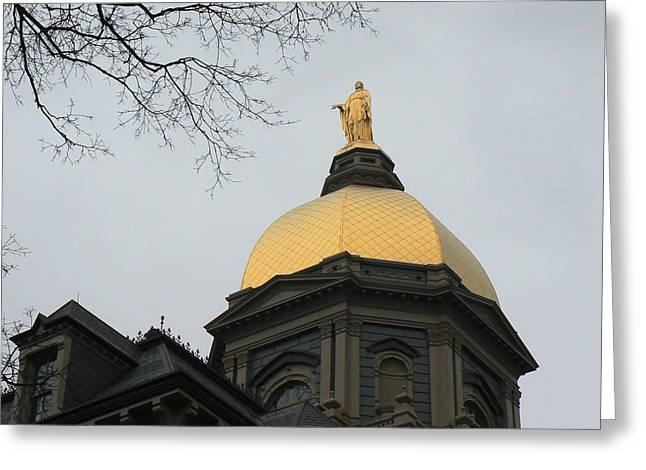 Golden Dome Nd 2 Greeting Card