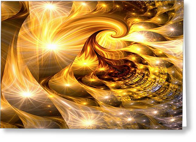 Golden Dreams II Greeting Card