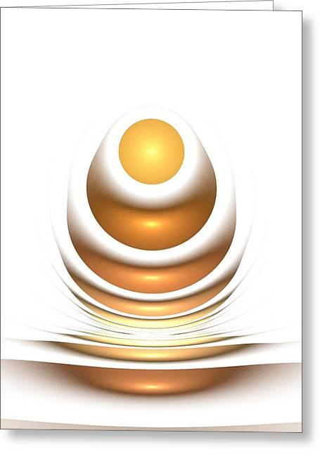Golden Egg Greeting Card by Anastasiya Malakhova