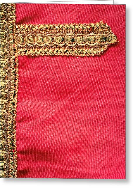 Golden Embroidery Greeting Card