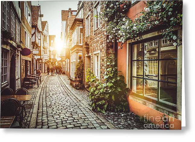 Golden Europe Greeting Card by JR Photography