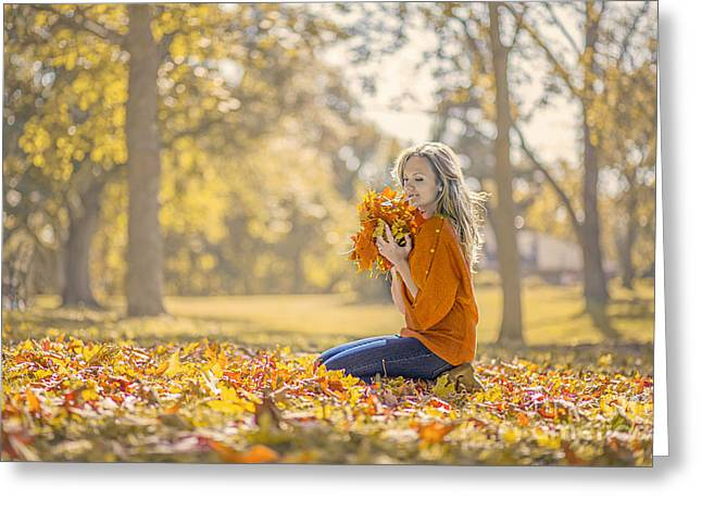 Golden Fall Greeting Card