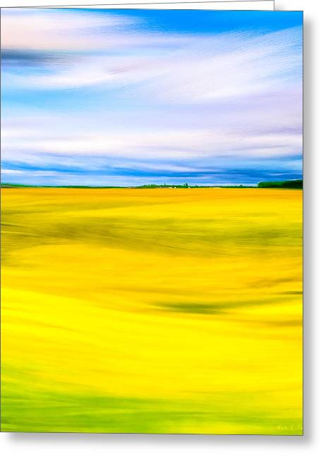 Golden Fields Of England - My Canterbury Tale Greeting Card by Mark E Tisdale