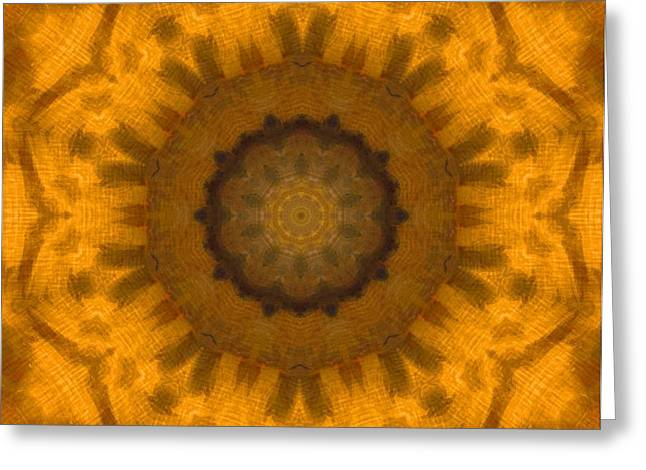 Golden Flower Greeting Card by Dan Sproul