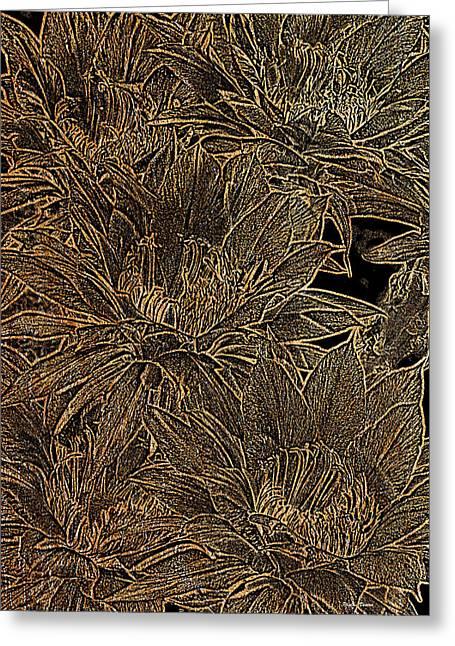 Golden Flowers  Greeting Card by Phyllis Denton