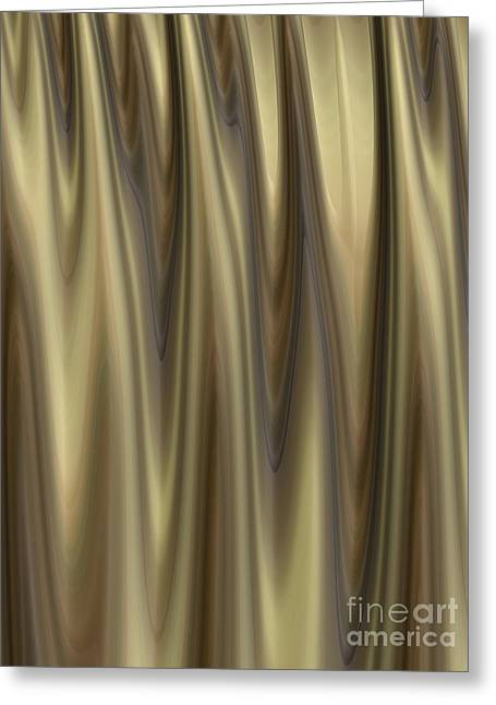 Golden Folds Greeting Card by John Edwards