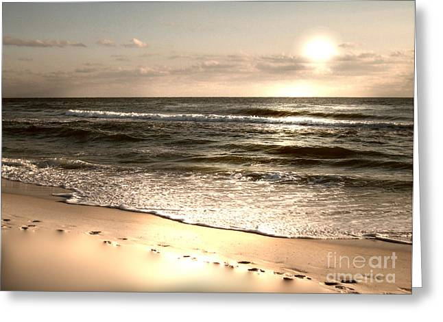 Golden Footprints Greeting Card by Jeffery Fagan