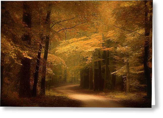 Golden Forest Greeting Card