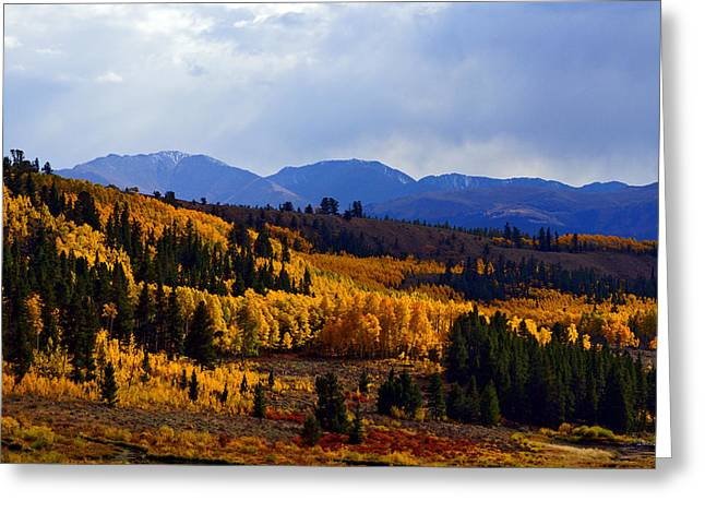 Golden Fourteeners Greeting Card