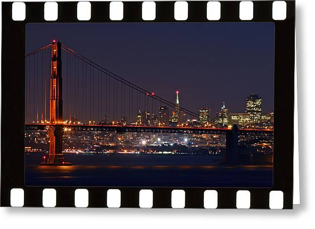 Greeting Card featuring the photograph Golden Gate 35mm Frame by Christopher McKenzie
