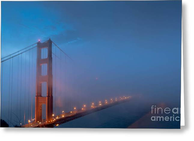 Golden Gate At Blue Hour Greeting Card