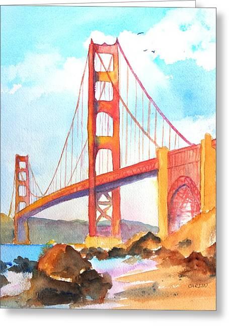 Golden Gate Bridge 3 Greeting Card by Carlin Blahnik
