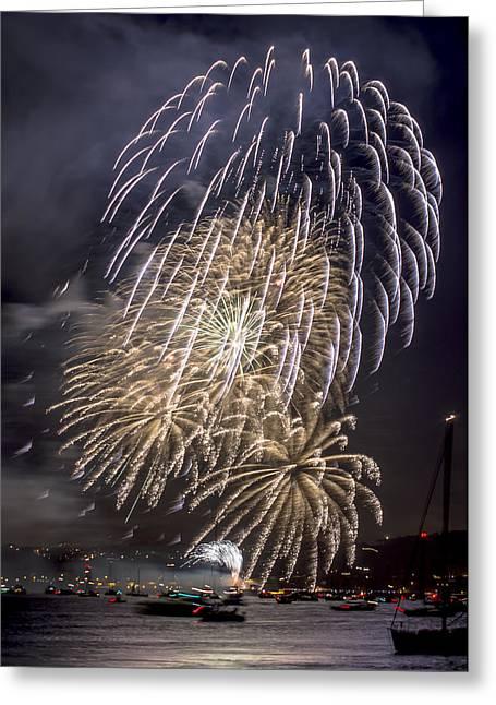Golden Gate Bridge 75th Anniversary Fireworks 15 Greeting Card