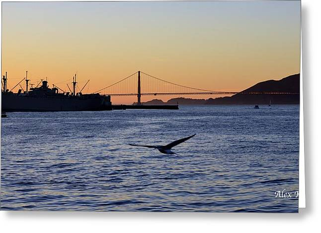 Greeting Card featuring the photograph Golden Gate Bridge by Alex King